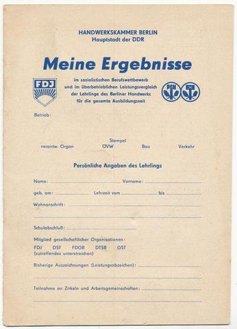zusatz gutschein 1977 braunkohlebriketts ddr museum berlin. Black Bedroom Furniture Sets. Home Design Ideas