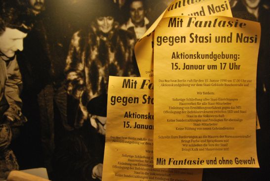Installation on the storming of the Stasi headquarters in the DDR Museum