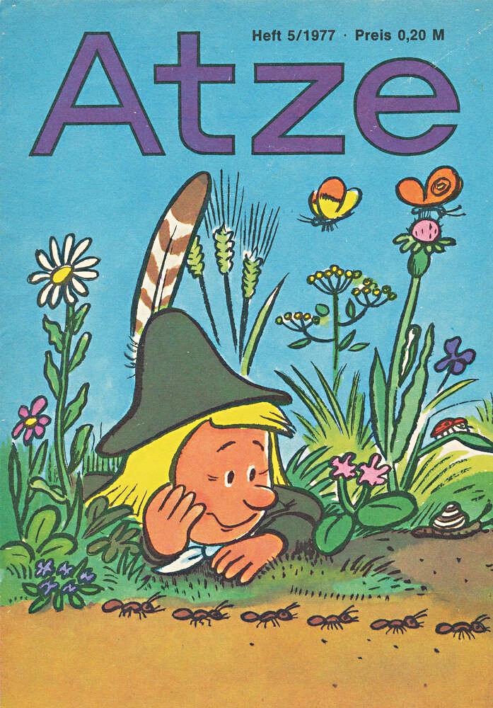 Zeitschrift Atze Ausgabe 5/1977 – Titelbild zeigt Pat von Pats Abenteuer