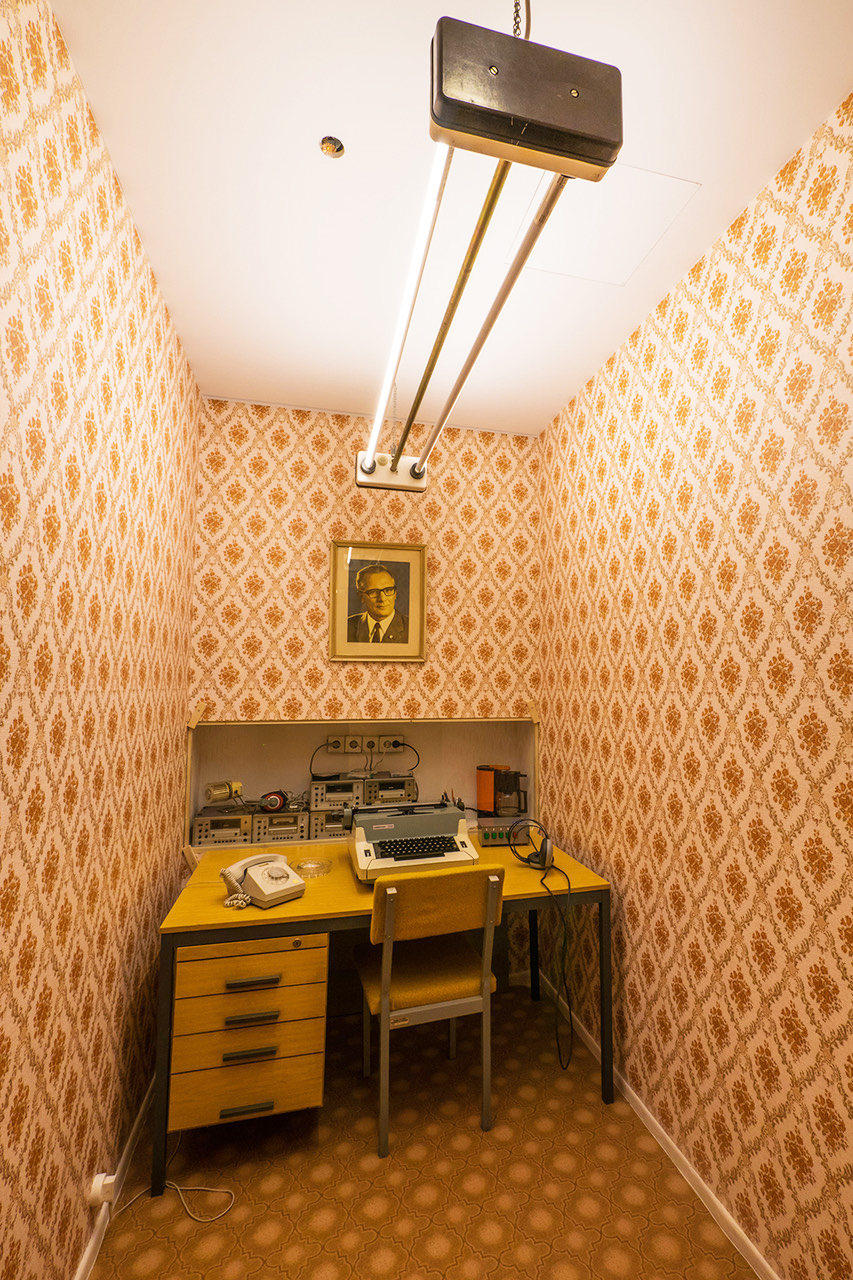 Reconstructed State Security Surveillance Room in the DDR Museum