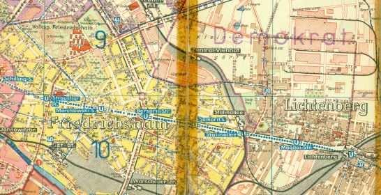 Stadtplan Berlin 1955 Ddr Museum