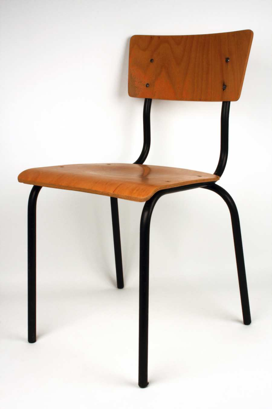 DDR chair model 3101 stacking chair with seat and back in timber