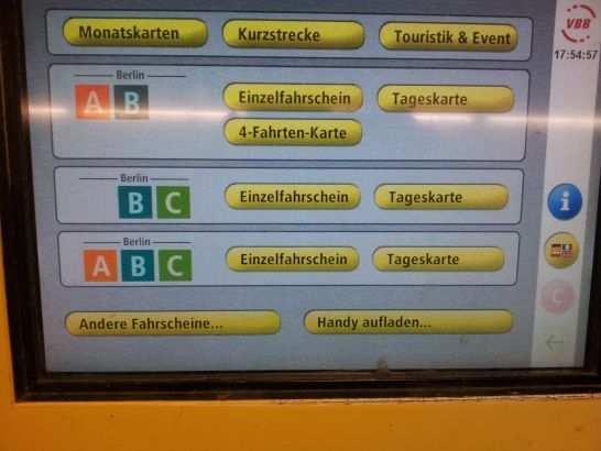 4 Fahrten Karte Bvg.We Sell Tickets At Bvg Public Transport Ticket Machines