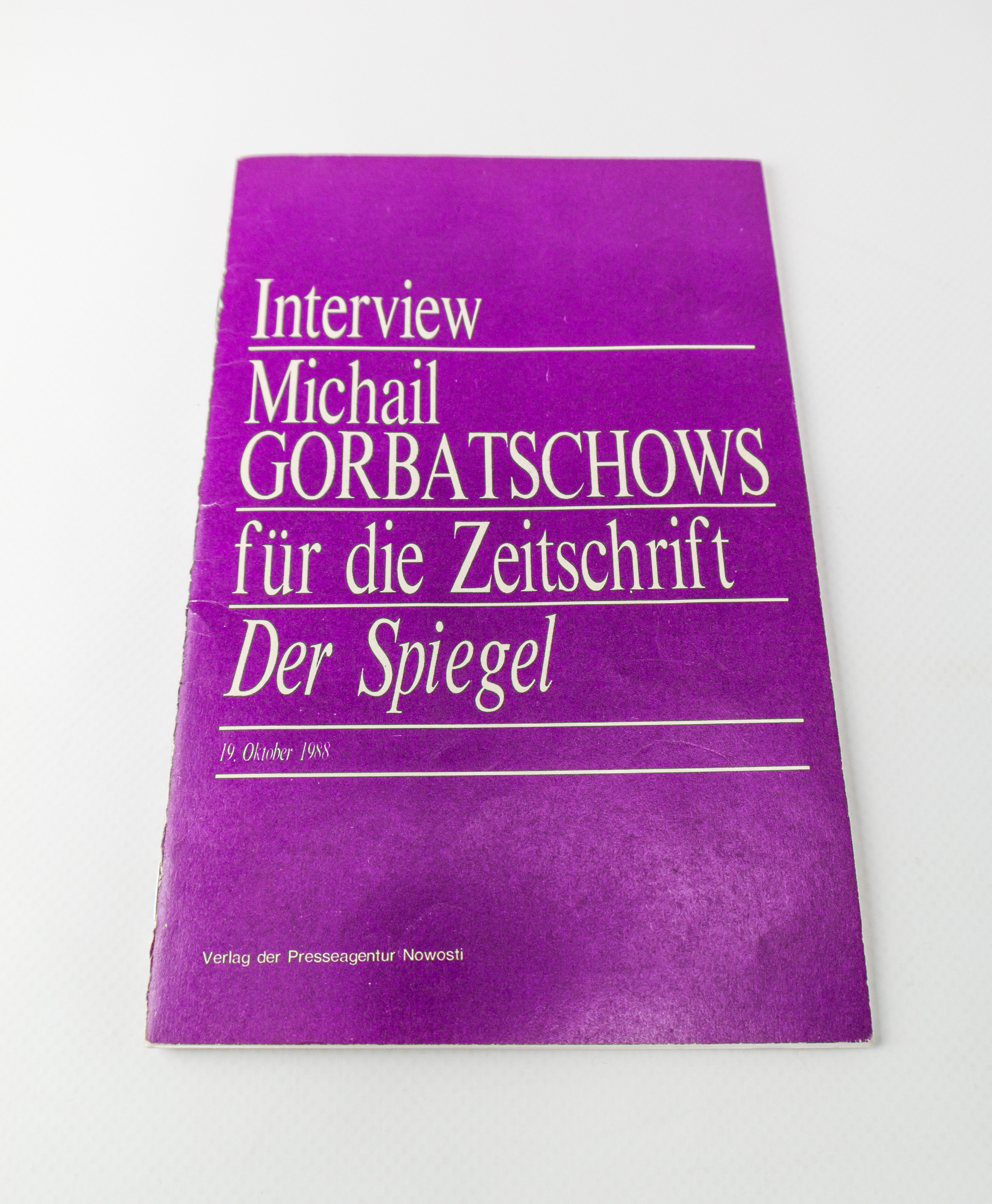 interview gorbatschow mit dem spiegel 1988 ddr museum berlin. Black Bedroom Furniture Sets. Home Design Ideas